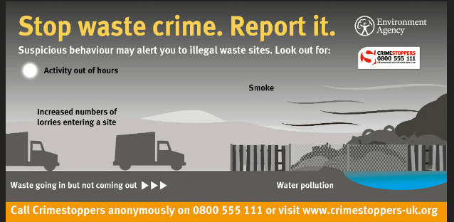 INCREASE IN WASTE CRIME