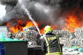 fires due to hazardous waste