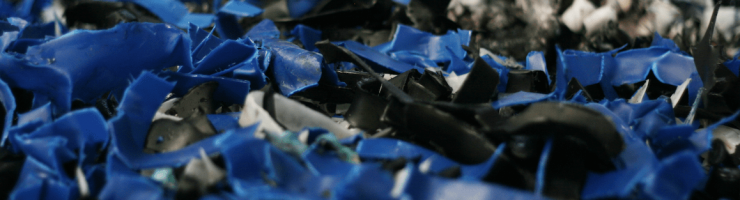 Screen plastics shredded